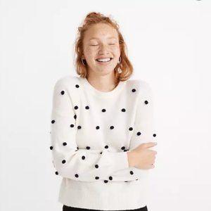 Madewell Brockton Bobble Sweater white cream sz S